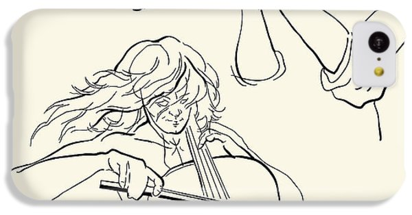 Sound iPhone 5c Case - Musicans Of Jazz. Vector Illustration by Ekaterina Kolchenko