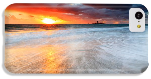 Beach Sunset iPhone 5c Case - Old Lighthouse by Evgeni Dinev