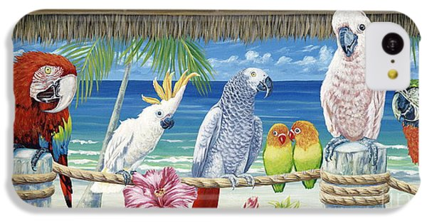 Parrots In Paradise IPhone 5c Case by Danielle  Perry