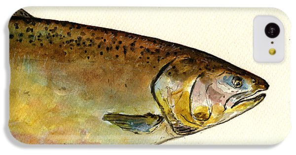 1 Part Chinook King Salmon IPhone 5c Case by Juan  Bosco