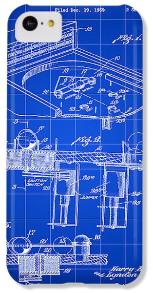Pinball Machine Patent 1939 - Blue IPhone 5c Case by Stephen Younts