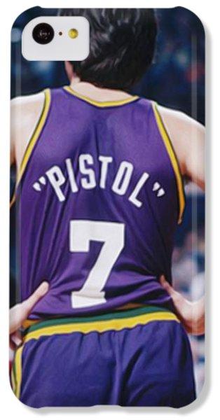Pistol Pete Maravich IPhone 5c Case by Paint Splat