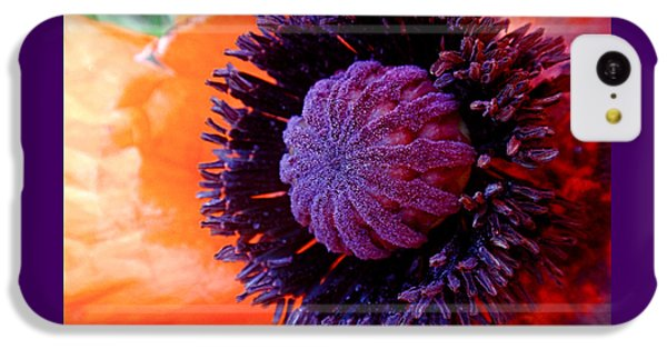 Poppy IPhone 5c Case by Rona Black