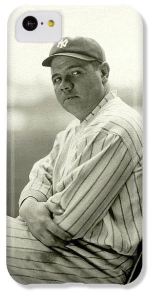 Portrait Of Babe Ruth IPhone 5c Case by Arnold Genthe