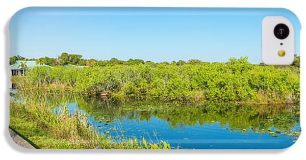 Anhinga iPhone 5c Case - Reflection Of Trees In A Lake, Anhinga by Panoramic Images