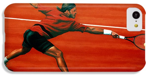 Roger Federer At Roland Garros IPhone 5c Case by Paul Meijering