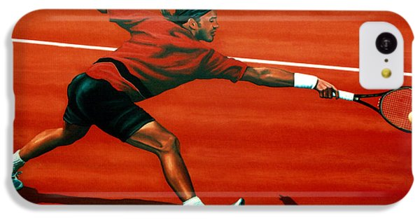 Tennis iPhone 5c Case - Roger Federer At Roland Garros by Paul Meijering
