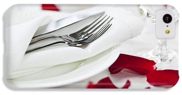 Romantic Dinner Setting With Rose Petals IPhone 5c Case