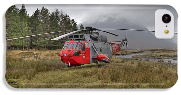 Royal Navy Sar Sea King Xz920 Glencoe IPhone 5c Case by Gary Eason