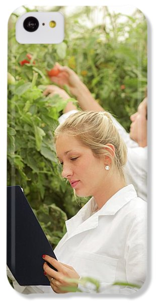 Scientists Examining Tomatoes IPhone 5c Case by Gombert, Sigrid