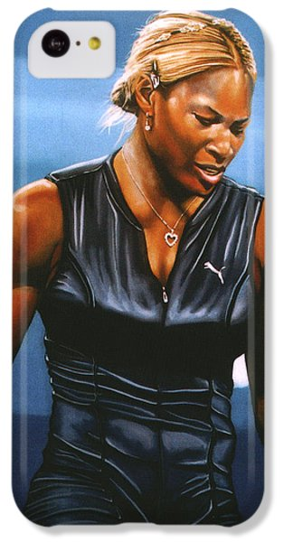 Serena Williams IPhone 5c Case by Paul Meijering