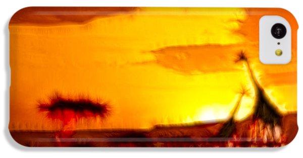 Serengeti Sunset IPhone 5c Case by Sebastian Musial
