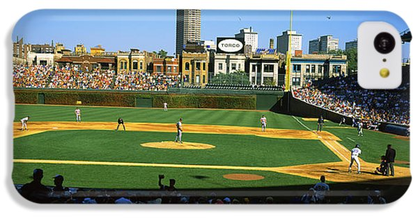 Spectators In A Stadium, Wrigley Field IPhone 5c Case by Panoramic Images