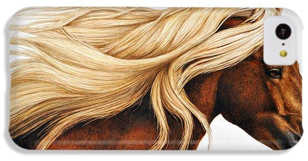 Horse iPhone 5c Case - Spun Gold by Pat Erickson