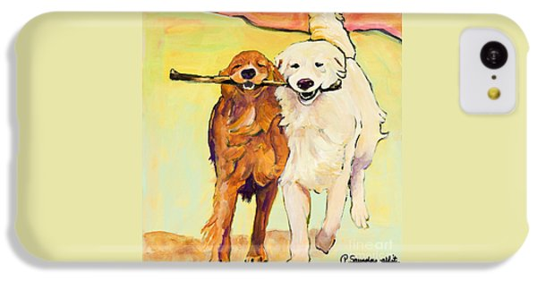 Dog iPhone 5c Case - Stick With Me by Pat Saunders-White
