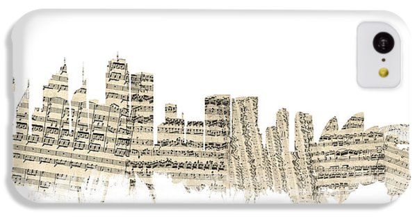 Sydney Australia Skyline Sheet Music Cityscape IPhone 5c Case