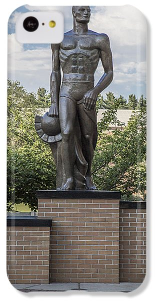 The Spartan Statue At Msu IPhone 5c Case by John McGraw