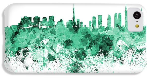 Tokyo Skyline In Watercolor On White Background IPhone 5c Case