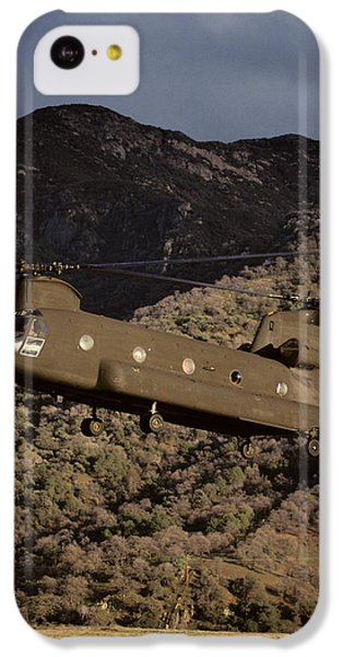 Helicopter iPhone 5c Case - Usa, California, Chinook Search by Gerry Reynolds