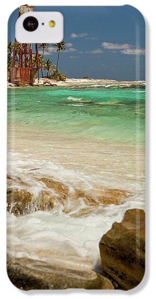 Belize iPhone 5c Case - View Of Lighthouse On Half Moon Caye by Michele Benoy Westmorland