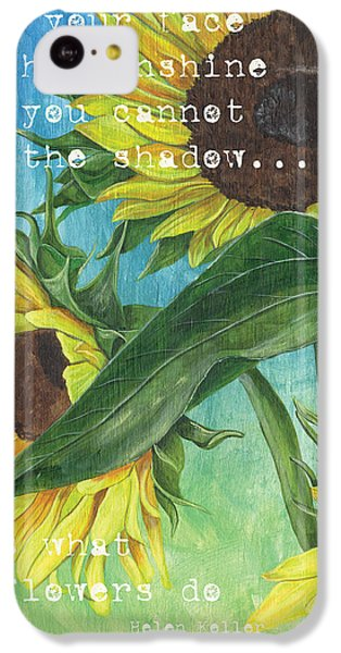 Sunflower iPhone 5c Case - Vince's Sunflowers 1 by Debbie DeWitt