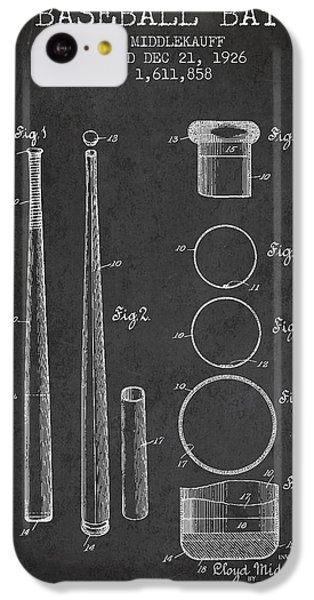 Vintage Baseball Bat Patent From 1926 IPhone 5c Case by Aged Pixel