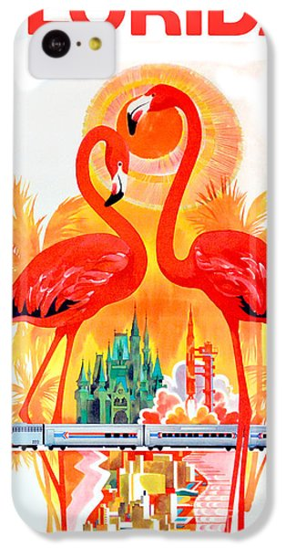 Vintage Florida Travel Poster IPhone 5c Case by Jon Neidert