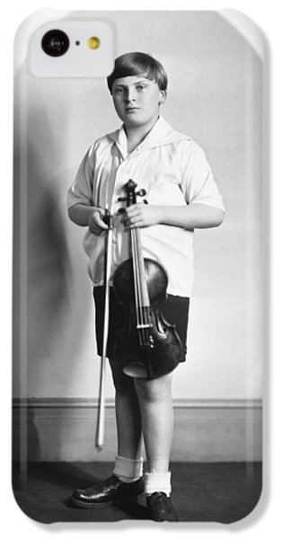 Violin iPhone 5c Case - Violinist Yehudi Menuhin by Underwood Archives