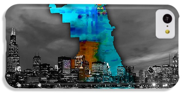 Chicago Map And Skyline Watercolor IPhone 5c Case