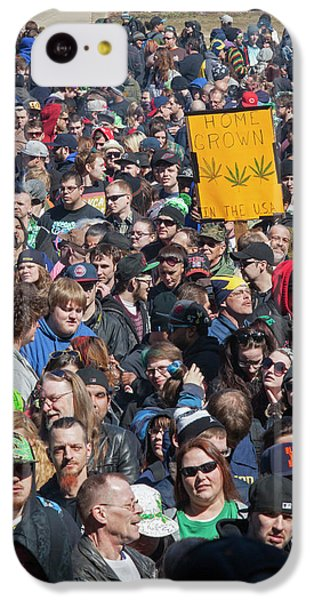 University Of Michigan iPhone 5c Case - Legalisation Of Marijuana Rally by Jim West