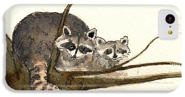 Raccoon IPhone 5c Case by Juan  Bosco