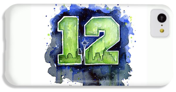 12th Man Seahawks Art Seattle Go Hawks IPhone 5c Case by Olga Shvartsur