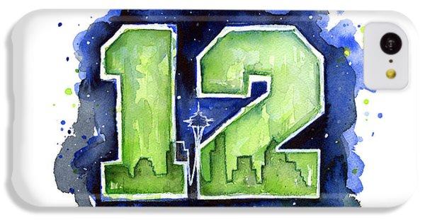 12th Man Seahawks Art Seattle Go Hawks IPhone 5c Case