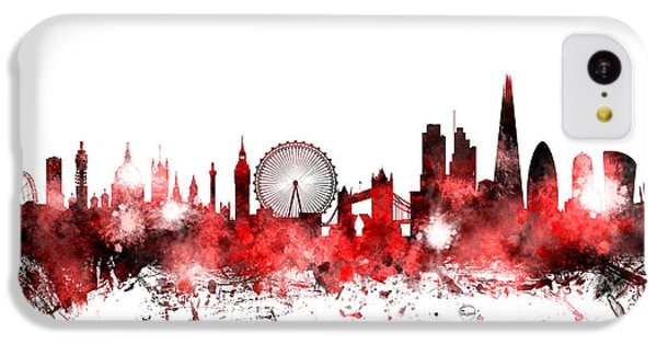 London Skyline iPhone 5c Case - London England Skyline by Michael Tompsett