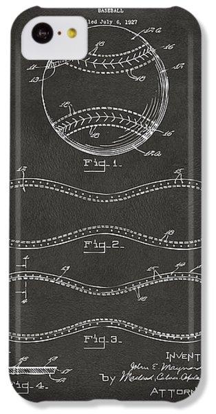 Baseball iPhone 5c Case - 1928 Baseball Patent Artwork - Gray by Nikki Marie Smith