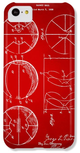 1929 Basketball Patent Artwork - Red IPhone 5c Case by Nikki Marie Smith