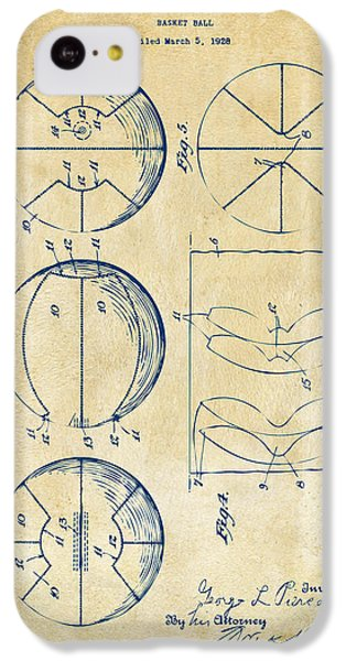 1929 Basketball Patent Artwork - Vintage IPhone 5c Case by Nikki Marie Smith