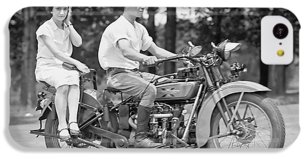 Motorcycle iPhone 5c Case - 1930s Motorcycle Touring by Daniel Hagerman