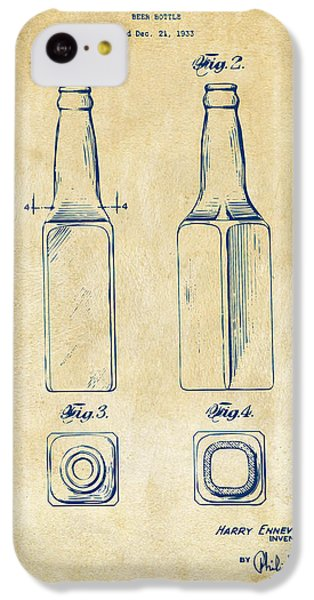 1934 Beer Bottle Patent Artwork - Vintage IPhone 5c Case by Nikki Marie Smith