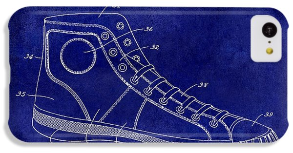 1934 Converse Shoe Patent Drawing Blue IPhone 5c Case