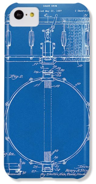 Drum iPhone 5c Case - 1939 Snare Drum Patent Blueprint by Nikki Marie Smith