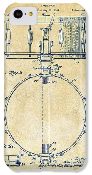 Drum iPhone 5c Case - 1939 Snare Drum Patent Vintage by Nikki Marie Smith