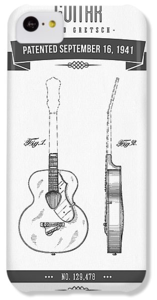 Guitar iPhone 5c Case - 1941 Guitar Patent Drawing by Aged Pixel