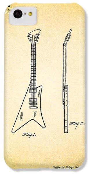 Guitar iPhone 5c Case - 1958 Gibson Guitar Patent by Mark Rogan