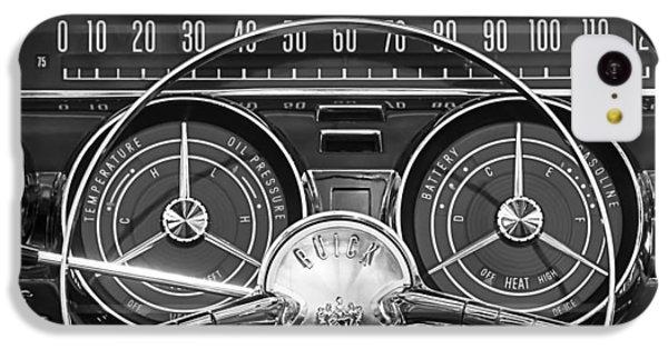 White iPhone 5c Case - 1959 Buick Lasabre Steering Wheel by Jill Reger