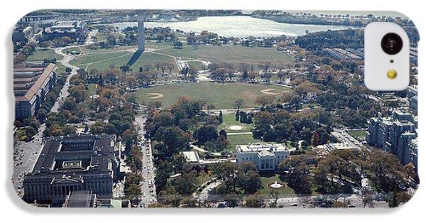Washington Monument iPhone 5c Case - 1960s Aerial View Washington Monument by Vintage Images
