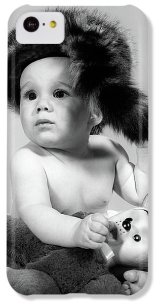 1960s Baby Wearing Coonskin Hat IPhone 5c Case