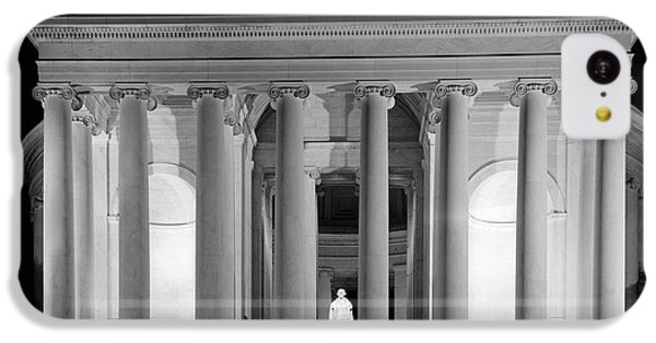 Jefferson Memorial iPhone 5c Case - 1960s Thomas Jefferson Memorial Lit by Vintage Images