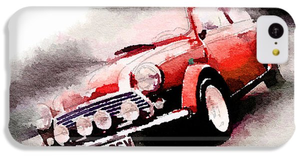 1963 Austin Mini Cooper Watercolor IPhone 5c Case by Naxart Studio
