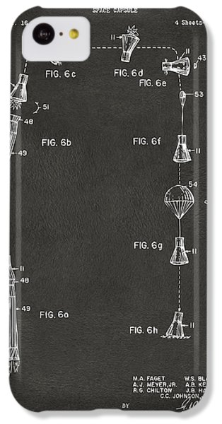 1963 Space Capsule Patent Gray IPhone 5c Case by Nikki Marie Smith
